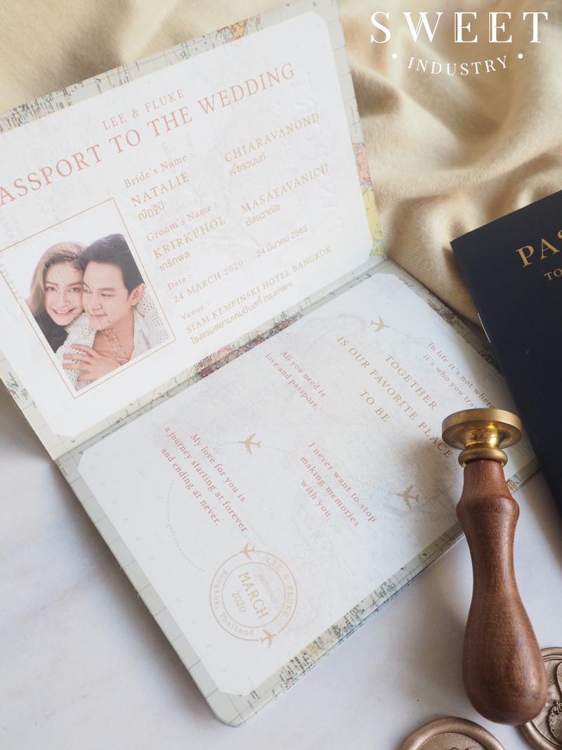 การ์ดแต่งงาน Passport ราคา 49 บาท